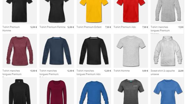 Des centaines de modeles de tshirts